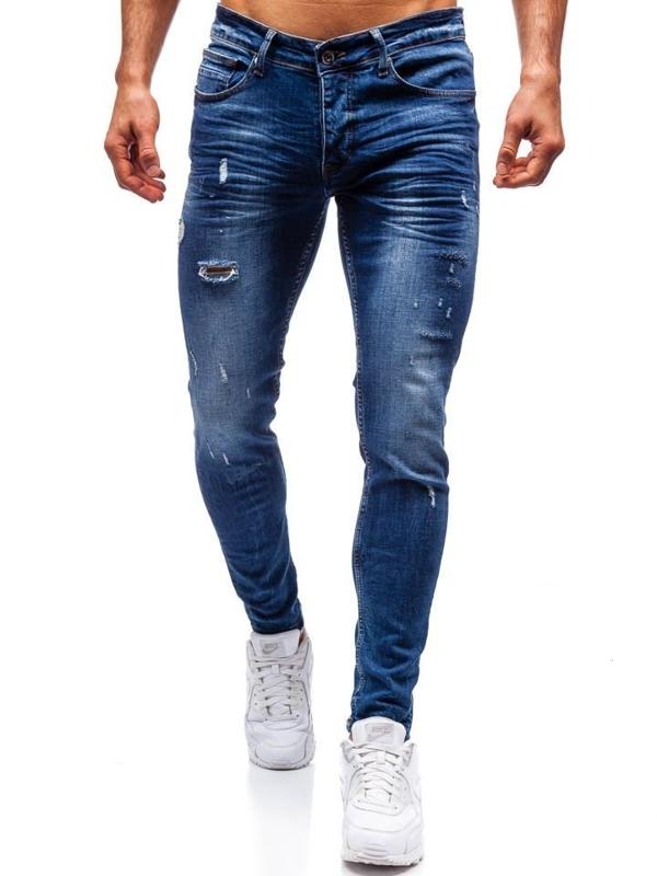Мужские джинсовые брюки темно-синие Bolf 1016