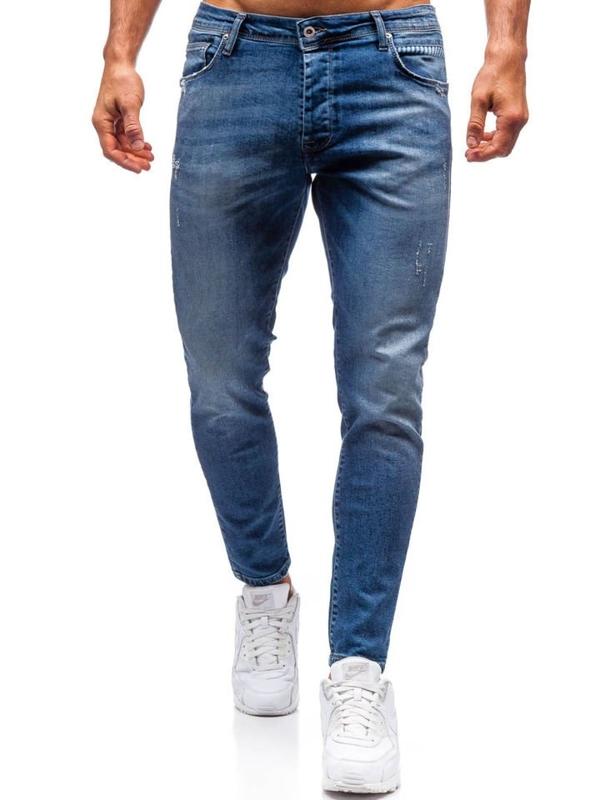 Мужские джинсовые брюки темно-синие Bolf 7158