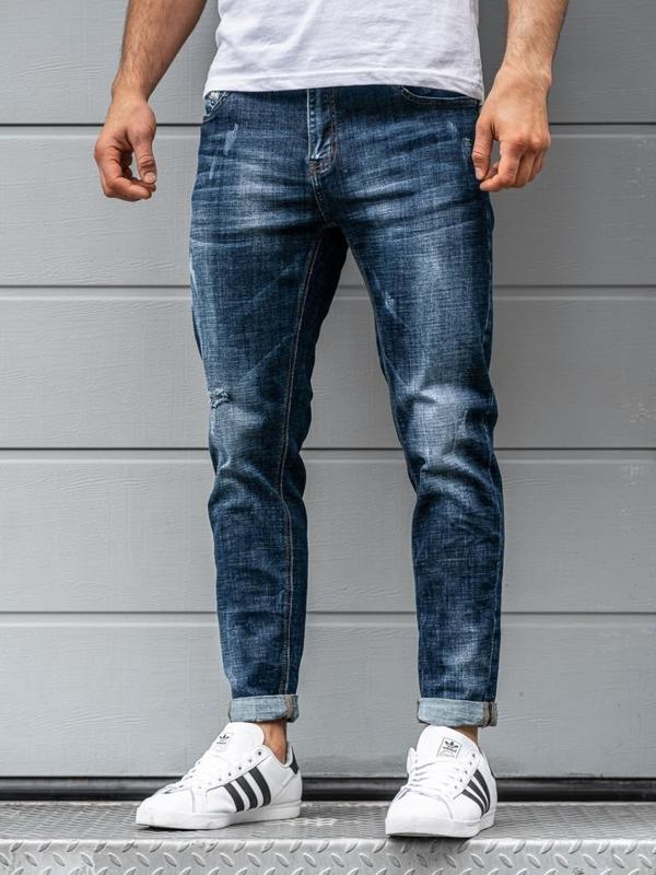 Мужские джинсовые брюки темно-синие Bolf KX263