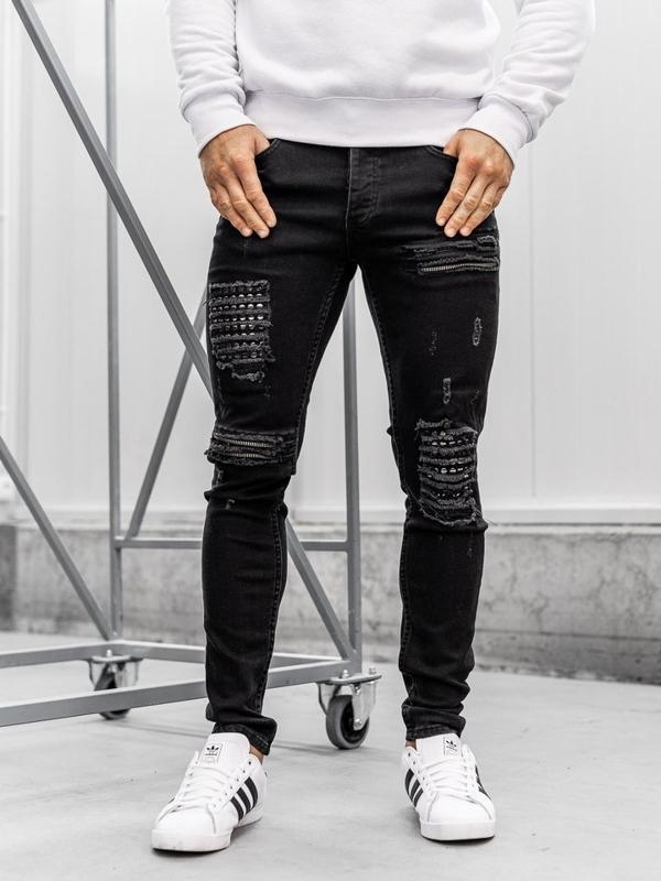 Мужские джинсовые брюки черные Bolf 1082