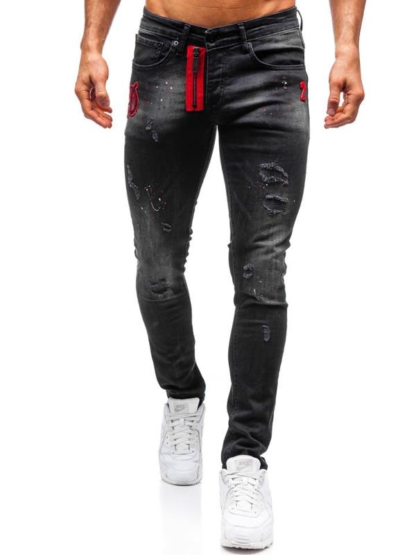 Мужские джинсовые брюки черные Bolf 9239