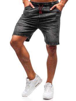 Мужские джинсовые шорты графитовые Bolf KK101