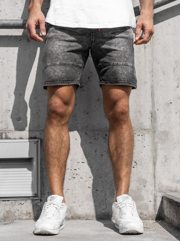 Мужские джинсовые шорты графитовые Bolf KK105