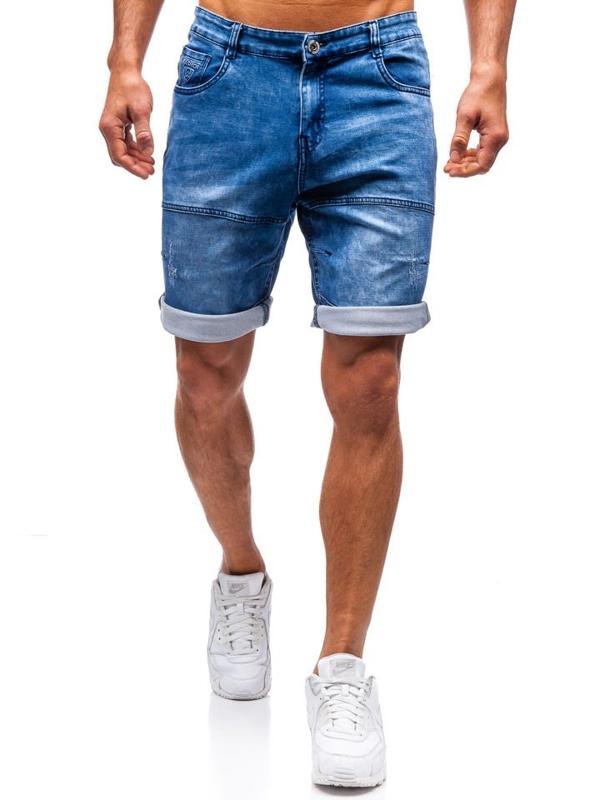 Мужские джинсовые шорты темно-синие Bolf HY187