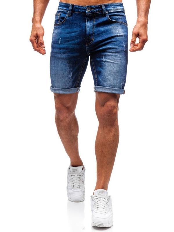 Мужские джинсовые шорты темно-синие Bolf T575