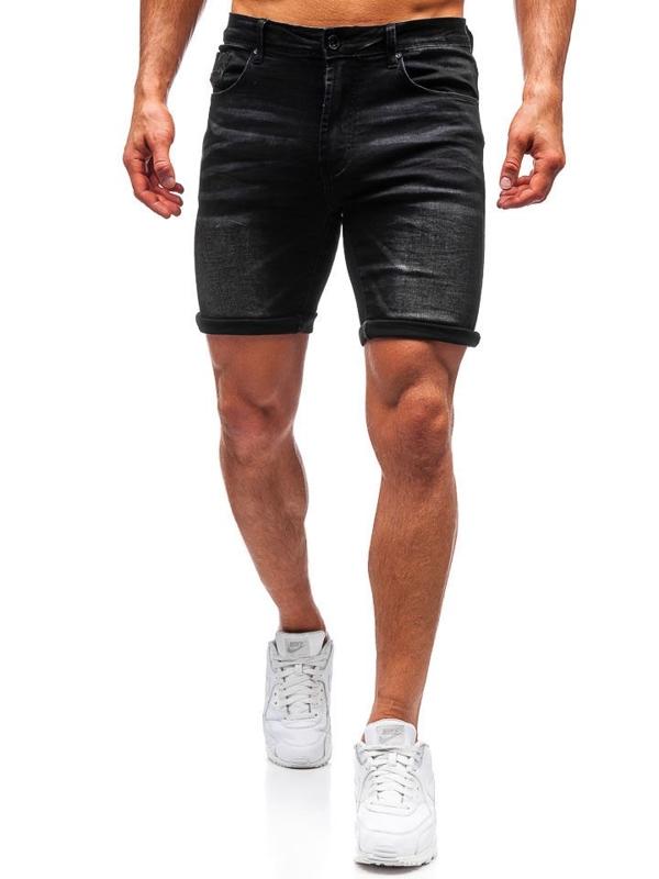 Мужские джинсовые шорты черные Bolf T572