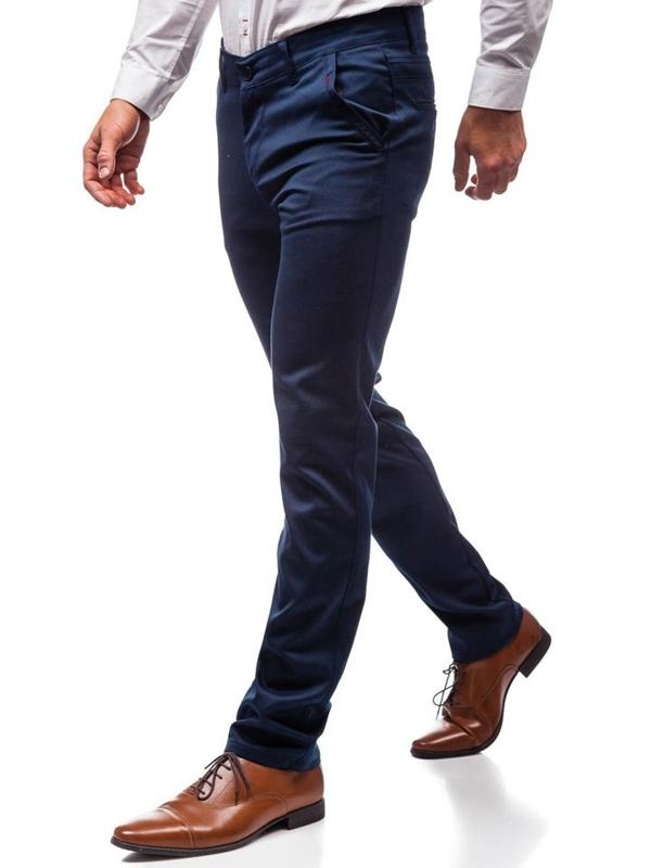 Мужские элегантные брюки темно-синие Bolf 7616