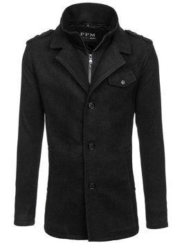 Мужское пальто черное Bolf 8853F