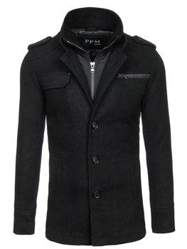 Мужское пальто черное Bolf 8856C