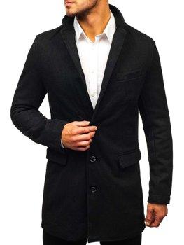 Мужское пальто черное Bolf NZ01