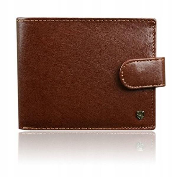 Мужской кожаный кошелек коричневый 917
