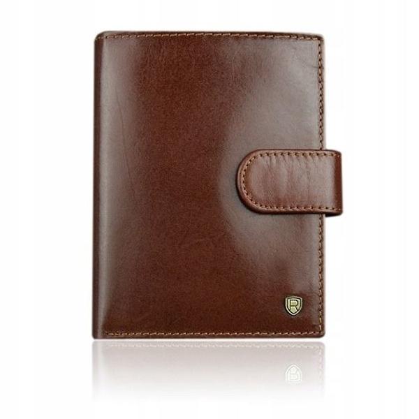 Мужской кожаный кошелек коричневый 924
