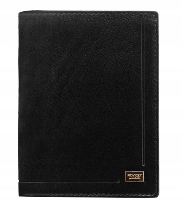 Мужской кожаный кошелек черный 190