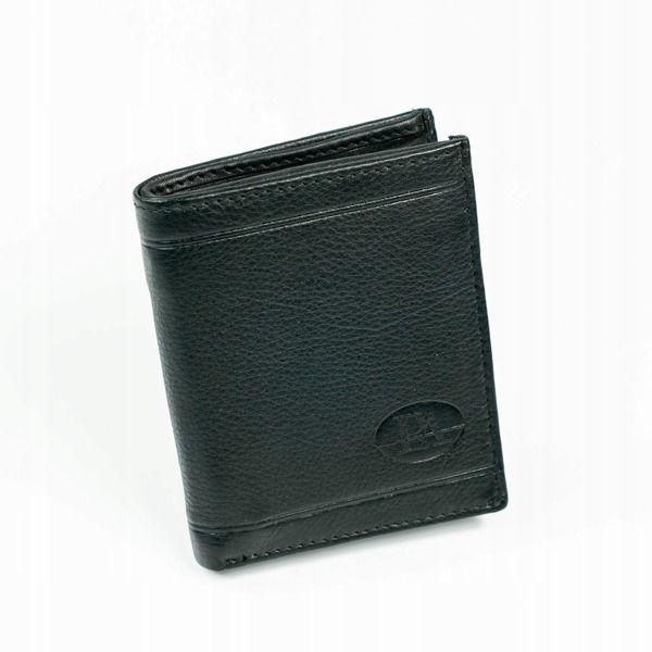 Мужской кожаный кошелек черный 877