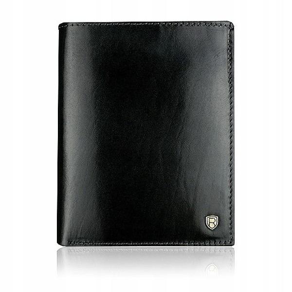 Мужской кожаный кошелек черный 910