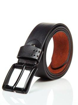 Мужской кожаный ремень черный Bolf P011