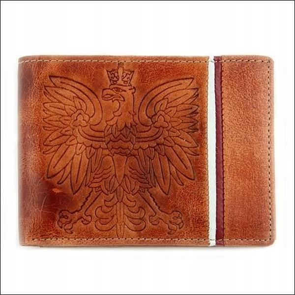 Мужской кошелек кожаный светло-коричневый 676