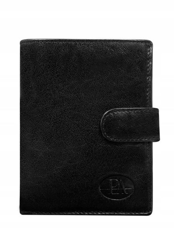 Мужской кошелек кожаный черный 351