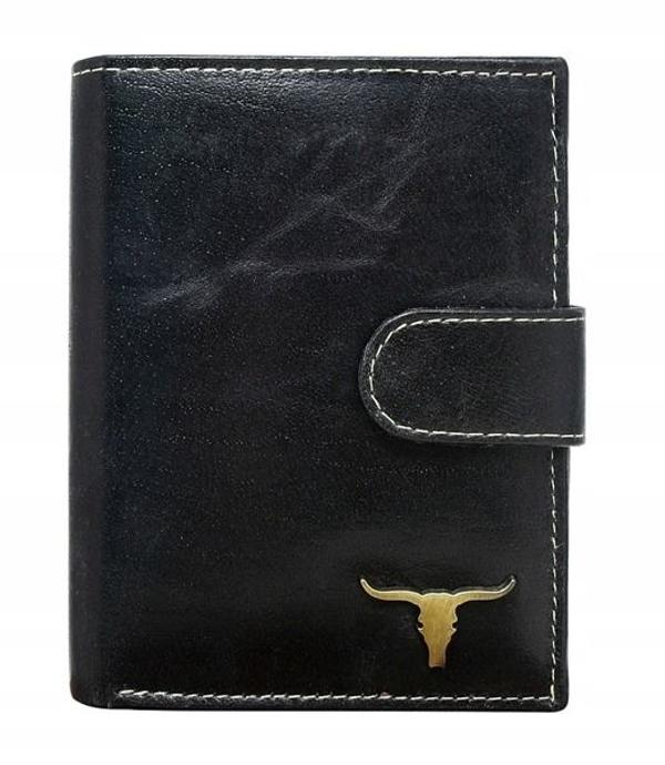 Мужской кошелек кожаный черный 41