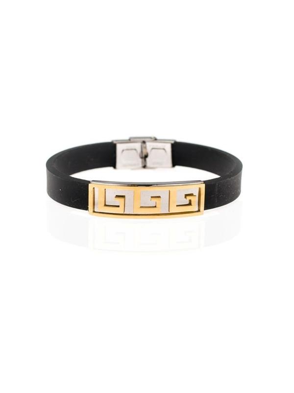 Мужской плоский браслет черный Bolf B056