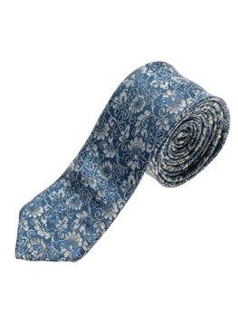 Мужской элегантный галстук синий Bolf K101
