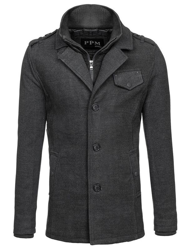 Пальто мужское серое Bolf 8853F