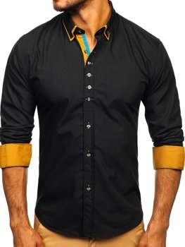Рубашка мужская BOLF 3708 черная