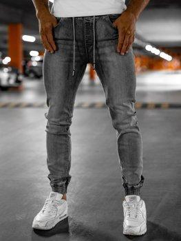 Серые мужские джинсовые джоггеры Bolf KA1815