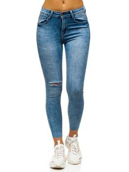 Синие женские джинсы скинни Bolf S3336