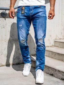 Темно-синие мужские джинсовые брюки Slim fit Bolf 85005s0