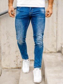 Темно-синие мужские джинсы regular fit Bolf KX509
