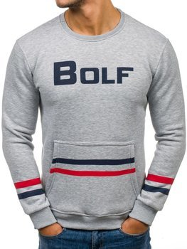 Толстовка мужская BOLF 75 серая