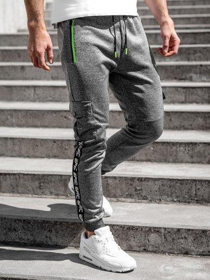 Графитные мужские спортивные брюки карго Bolf K10279