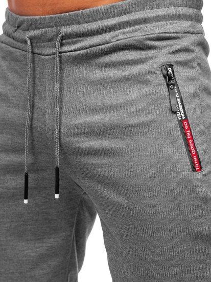 Графитовые мужские спортивные шорты Bolf JX511