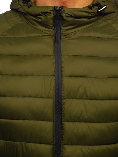 Зеленая стеганая мужская куртка Bolf 13021