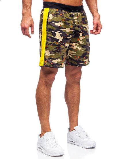 Зеленые мужские спортивные шорты Bolf KS2579