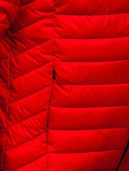 Красная стеганая мужская куртка Bolf 13021