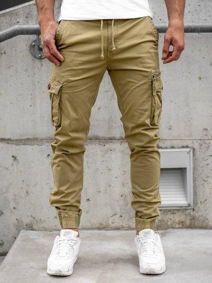 Кэмел мужские брюки джоггеры карго Bolf CT6702S0