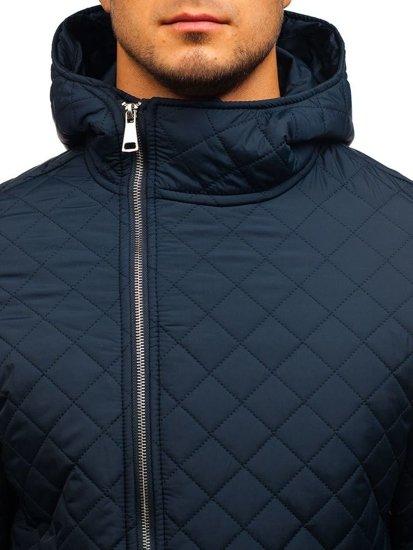 Мужская демисезонная куртка темно-синяя Bolf 8208