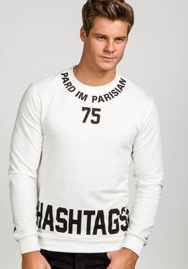 Мужская толстовка с принтом белая Bolf 7321