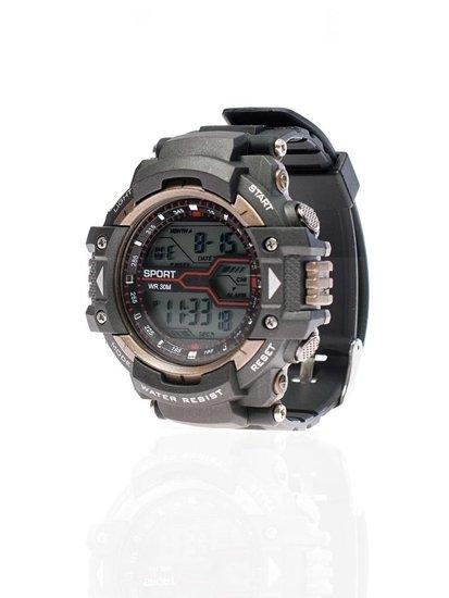 Мужские наручные часы черно-коричневые Bolf 8338