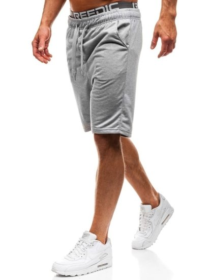Мужские спортивные шорты серые Bolf KK301
