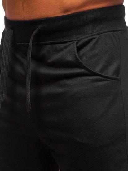 Мужские трикотажные шорты черные Bolf B1001