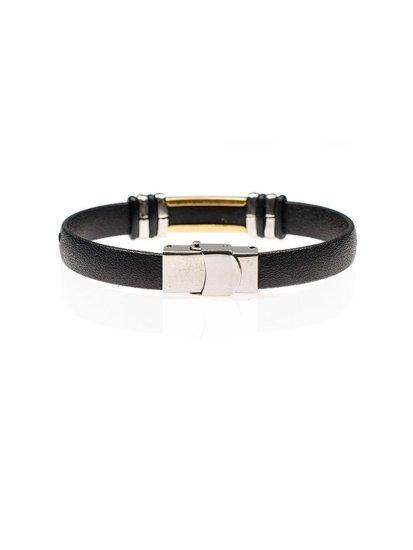 Мужской плоский браслет черный Bolf B082