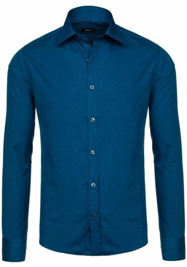 Рубашка мужская BOLF 1703 цвет морской волны