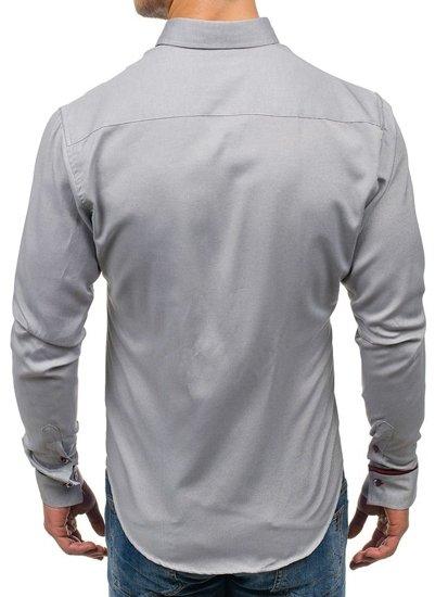 Рубашка мужская BOLF 5801 серая