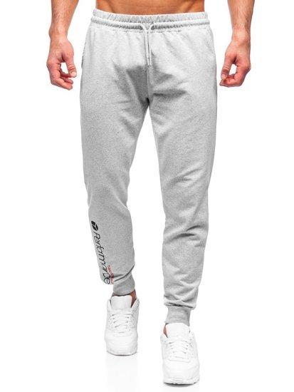 Серые мужские спортивные брюки Bolf 8623