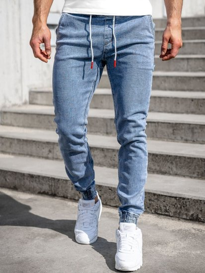 Синие мужские джинсы джоггеры Bolf KA1625