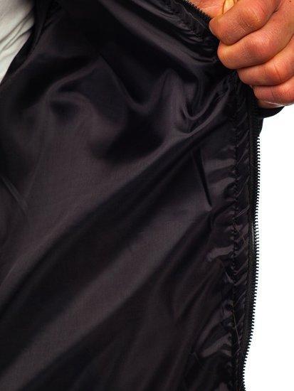 Хаки мужская демисезонная куртка бомбер Bolf M10291