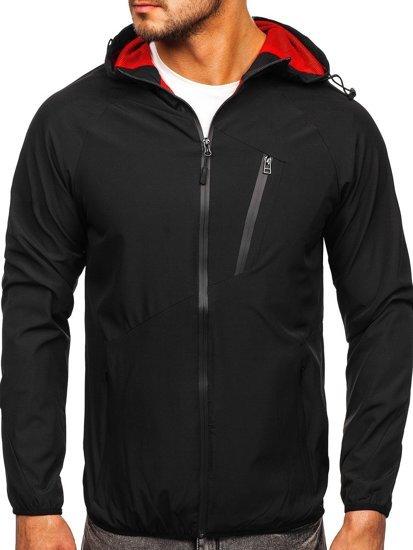 Черная ветровка мужская спортивная куртка Bolf HM091